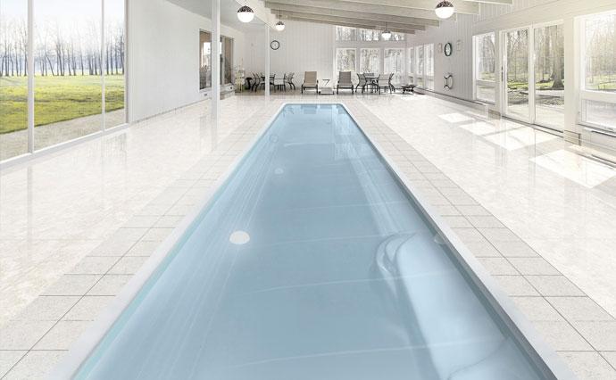 Modèle piscine coque couloir polyester - MdP Lane